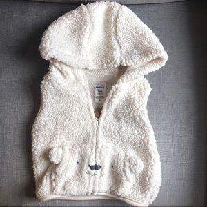CARTER'S Fuzzy Bear Vest Size 0-3 months